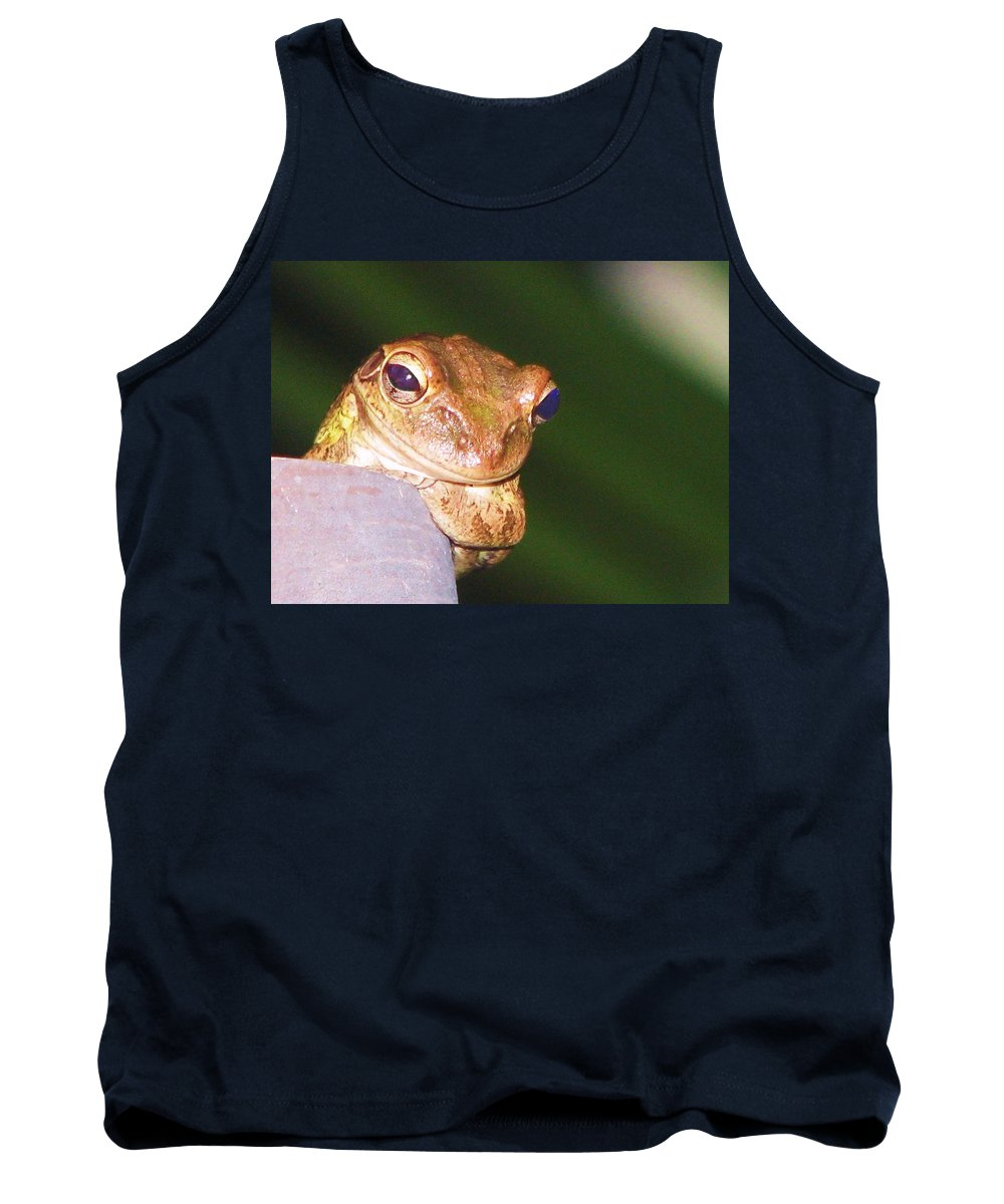 Nature Tank Top featuring the photograph Mr. Toad by Patricia Blake