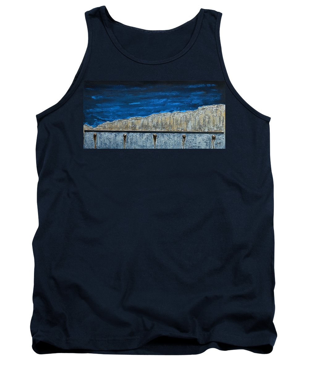Art Tank Top featuring the mixed media Neglect 3 by Mauro Celotti