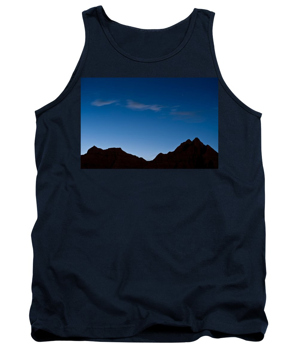 Silhouette Tank Top featuring the photograph Nightfall Badlands South Dakota by Steve Gadomski