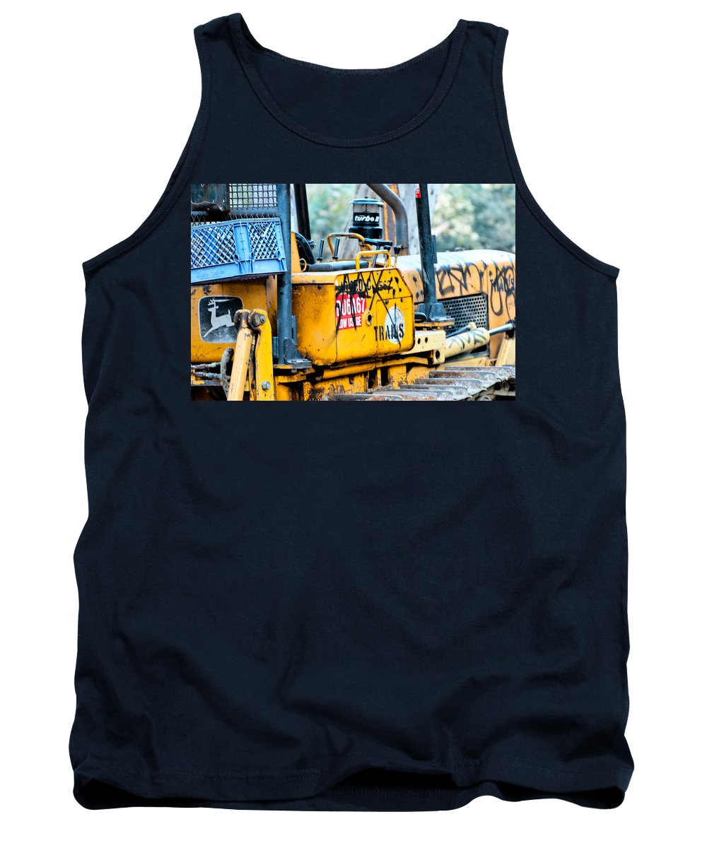 Machine Tank Top featuring the photograph Nothing Runs Like A Deere by Stephanie Haertling