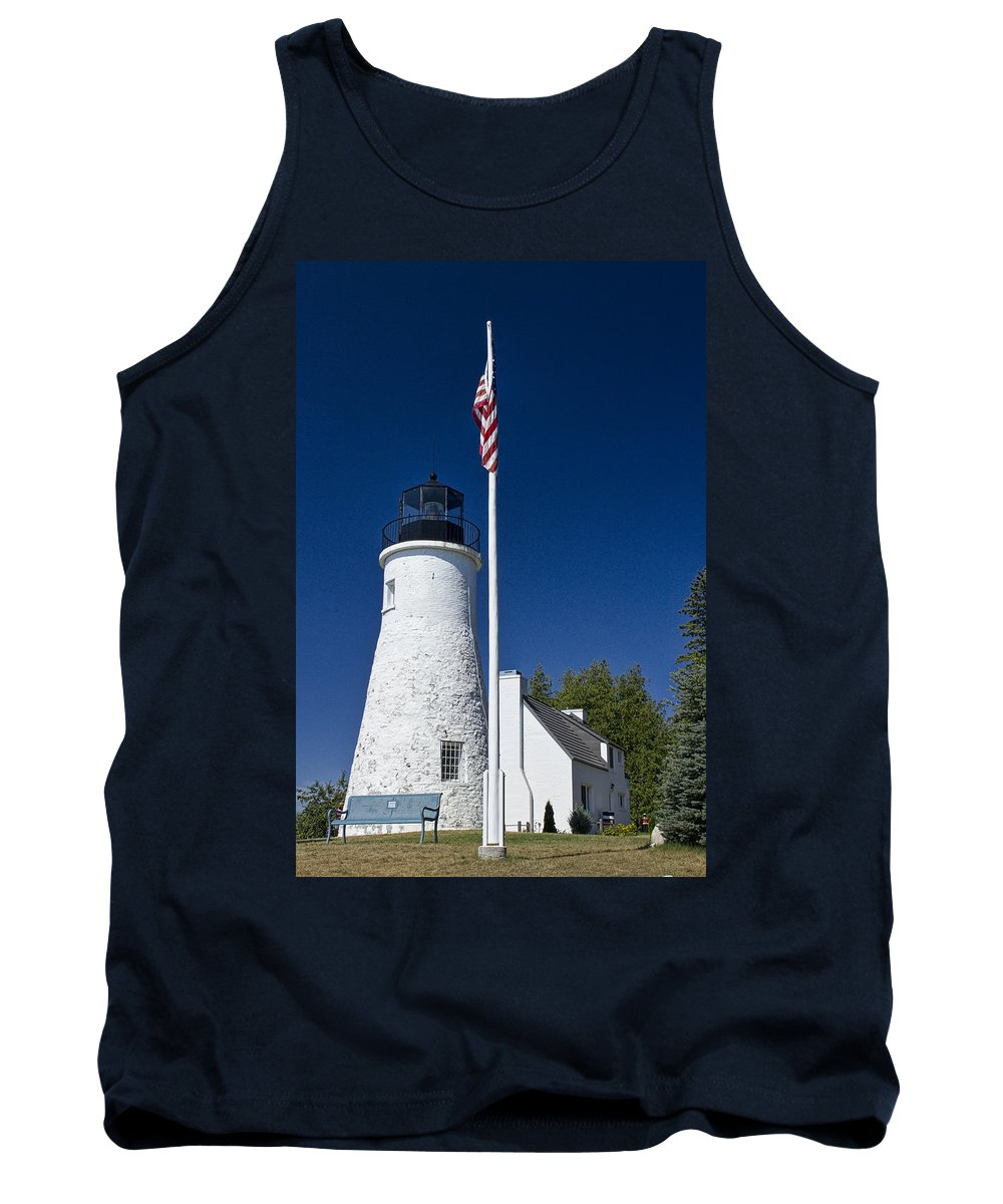 Art Tank Top featuring the photograph Old Presque Isle Light Station by Randall Nyhof