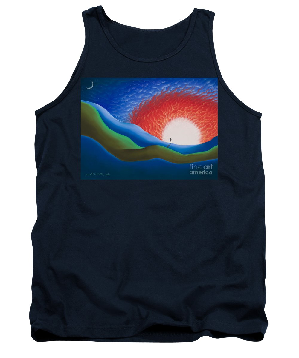 Dean Karnazes Tank Top featuring the pastel Out Of The Sun by Chris Mackie