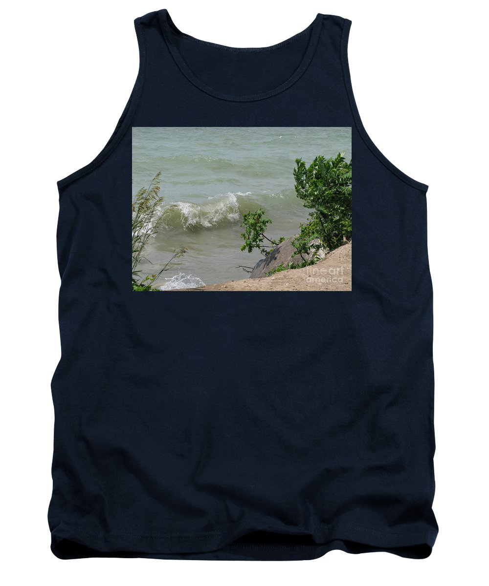 Lake Tank Top featuring the photograph Pelee Shore by Ann Horn