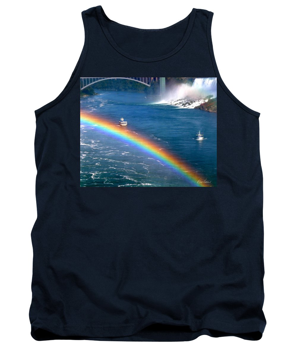 Niagara Falls Tank Top featuring the photograph Rainbow On Niagara Falls by Diana Haronis