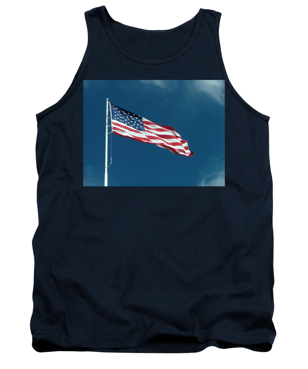 Red Tank Top featuring the photograph Red White And Blue by Dennis Pintoski