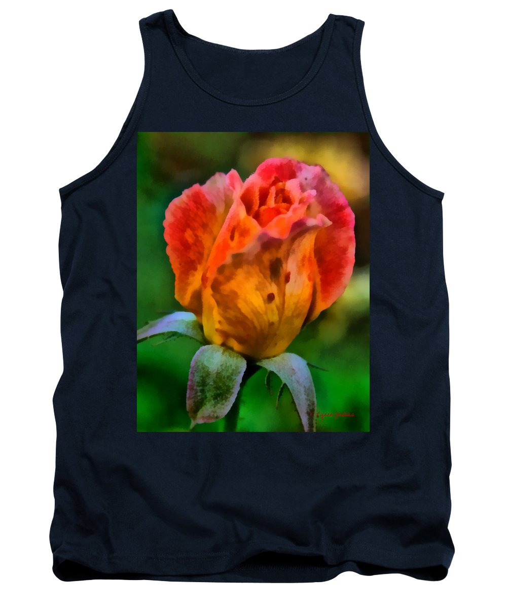 Flower Tank Top featuring the painting Rose by Lynne Jenkins