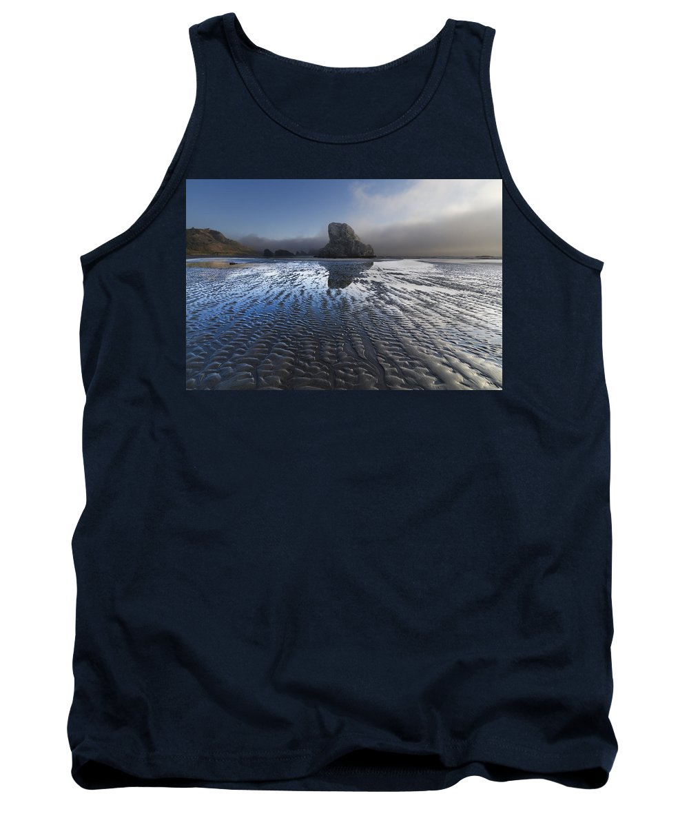 Clouds Tank Top featuring the photograph Sand Sculptures by Debra and Dave Vanderlaan