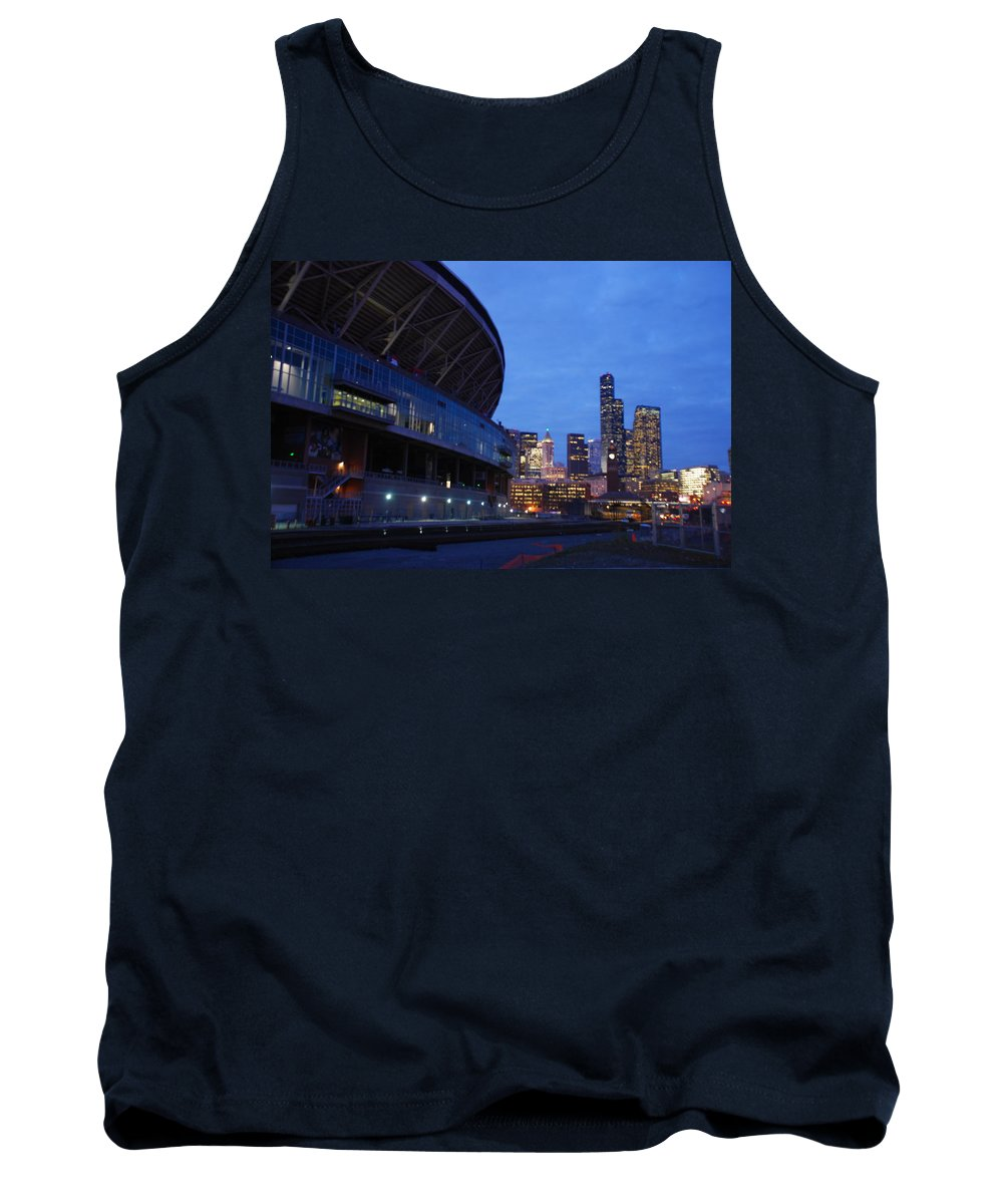 Seattle Tank Top featuring the photograph Seattle Sky At Dusk by Michael Merry
