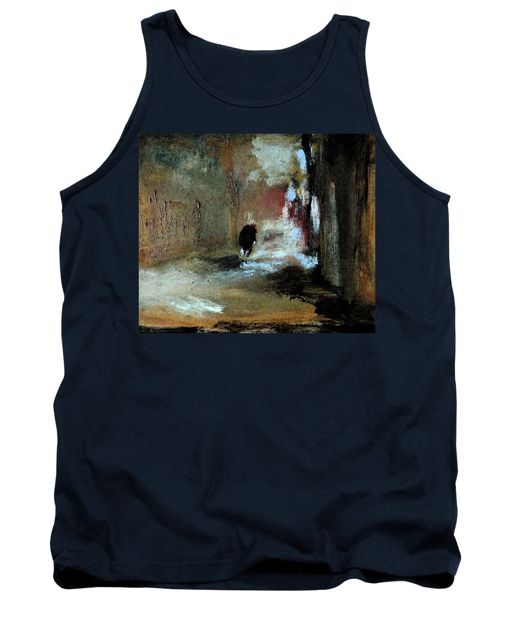 Landscape Tank Top featuring the painting Stillness Of The Day by Rome Matikonyte