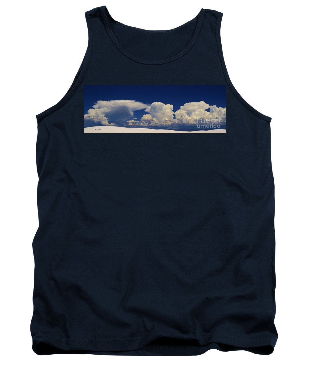 Roena King Tank Top featuring the photograph Summer Storms Over The Mountains 3 by Roena King