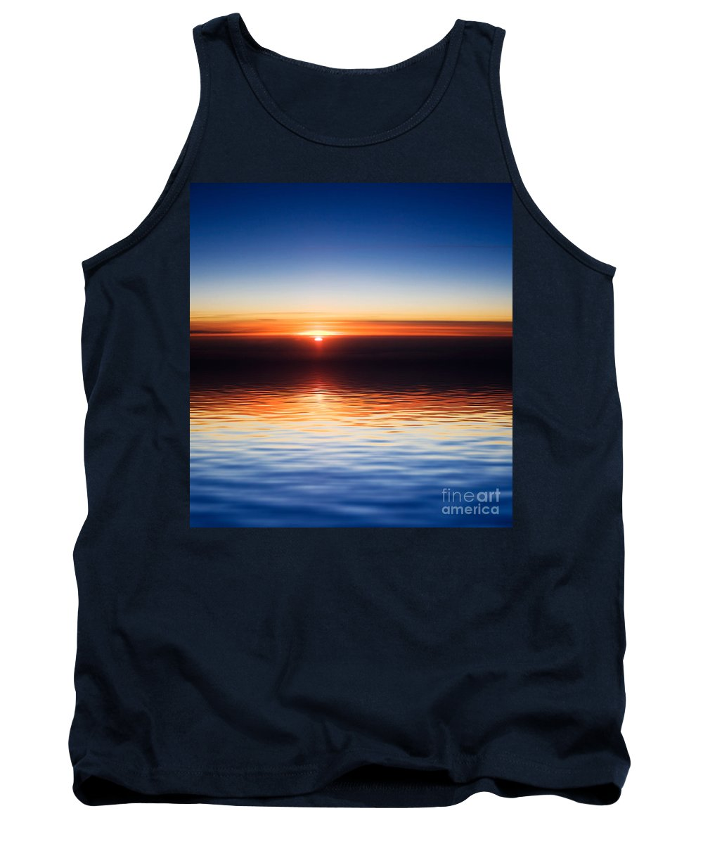 Sunset Tank Top featuring the photograph Sunset by Kati Finell