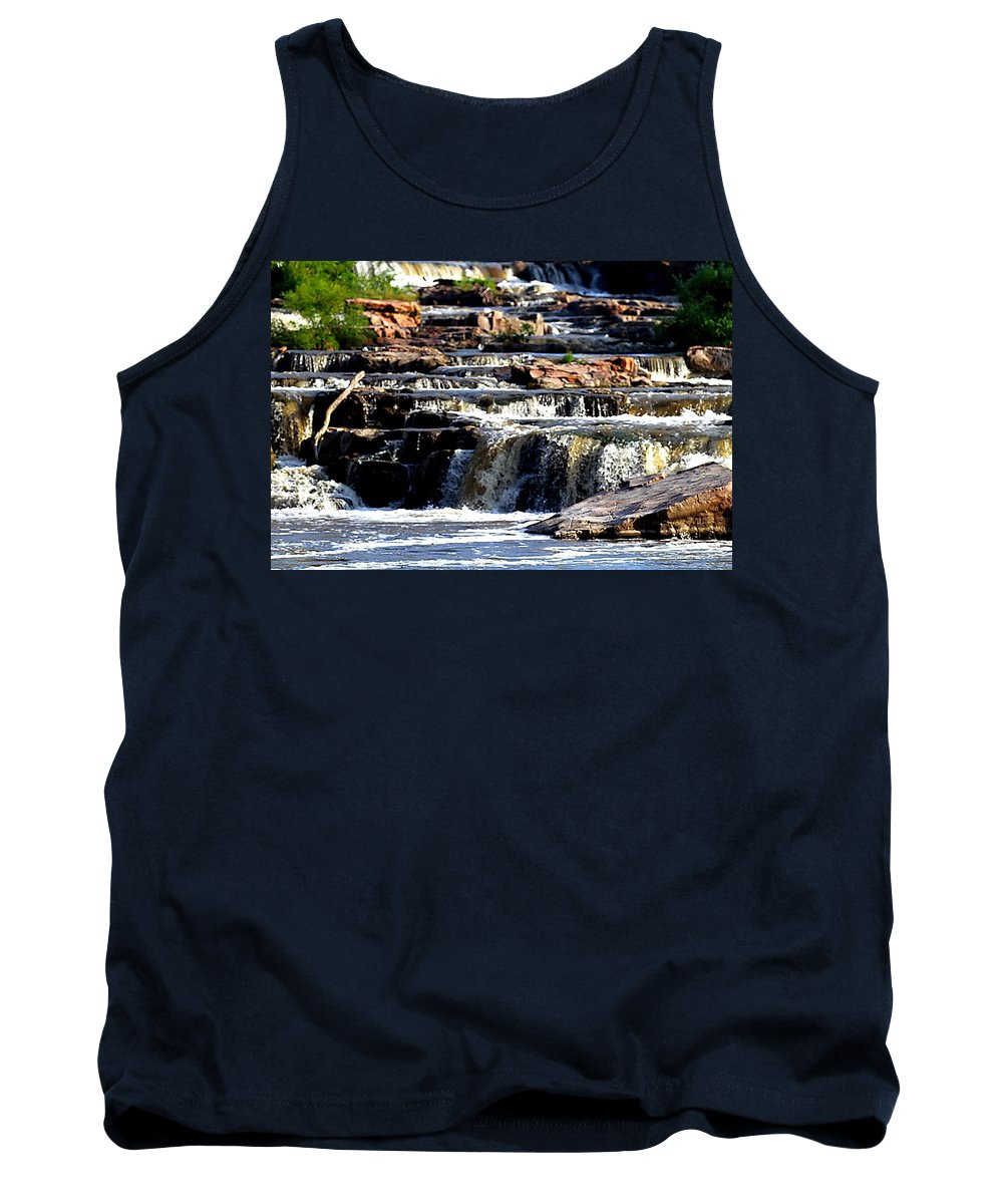 Sioux Falls Tank Top featuring the photograph The Falls by Elizabeth Winter