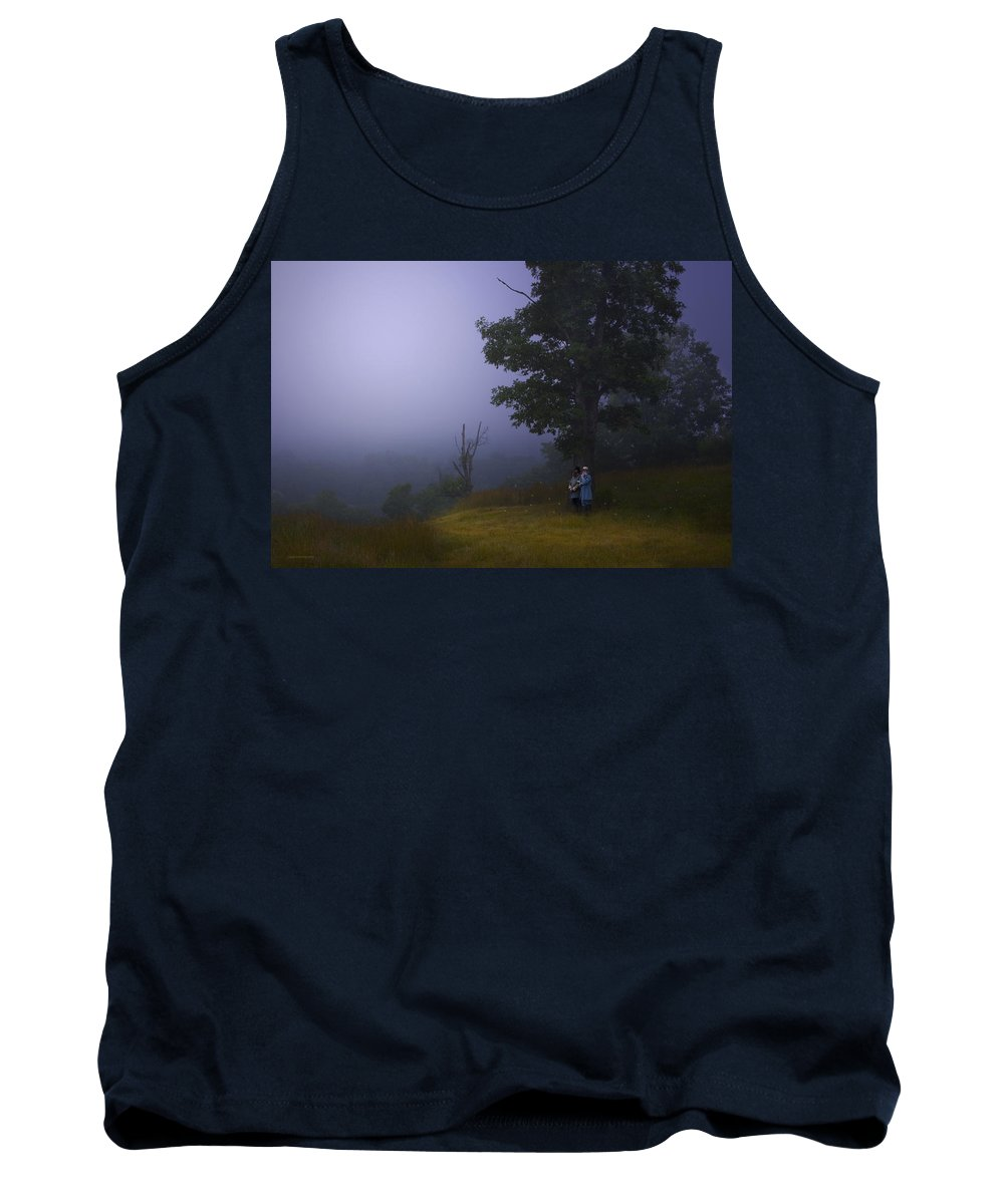 Landscape.evening Tank Top featuring the photograph The High Ground by Ron Jones