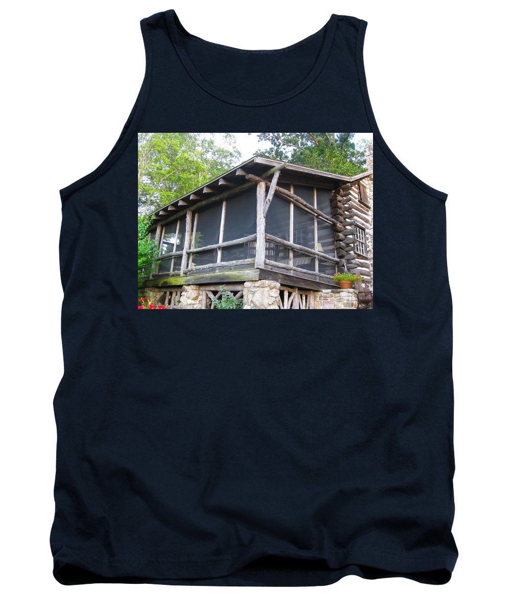 Farm Animals Tank Top featuring the photograph The Old Part Of The Cabin by Robert Margetts