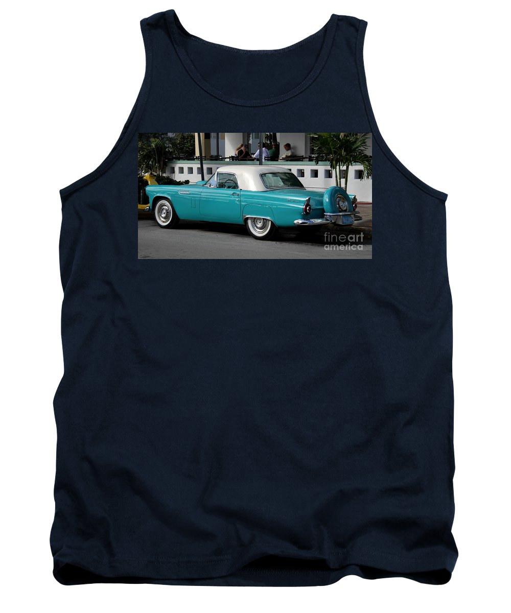 Thunderbird Tank Top featuring the photograph Turquoise Thunderbird by Christiane Schulze Art And Photography