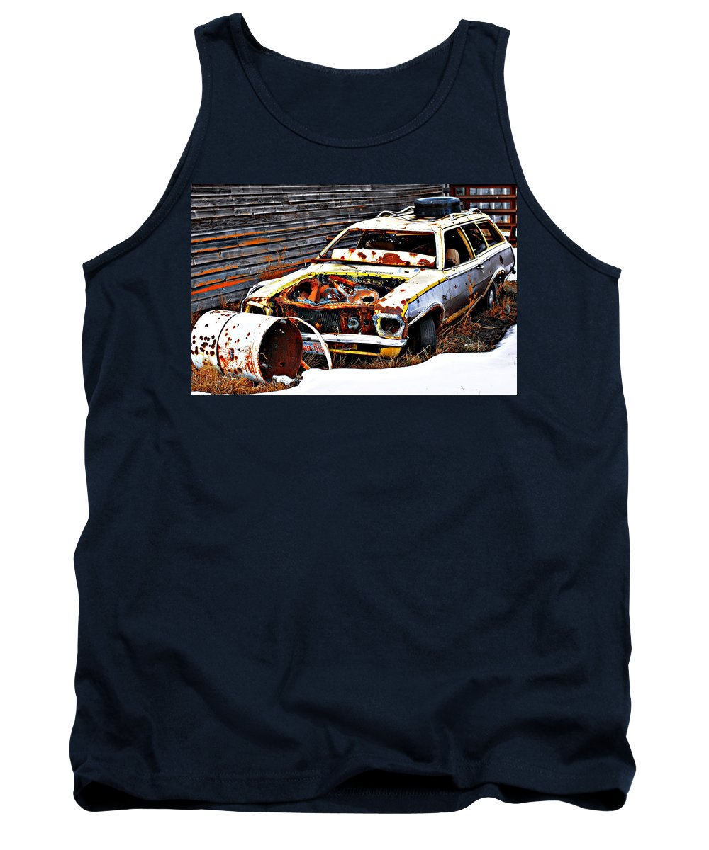 Photographs Framed Prints Framed Prints Tank Top featuring the photograph Wagon Of Rust by The Artist Project