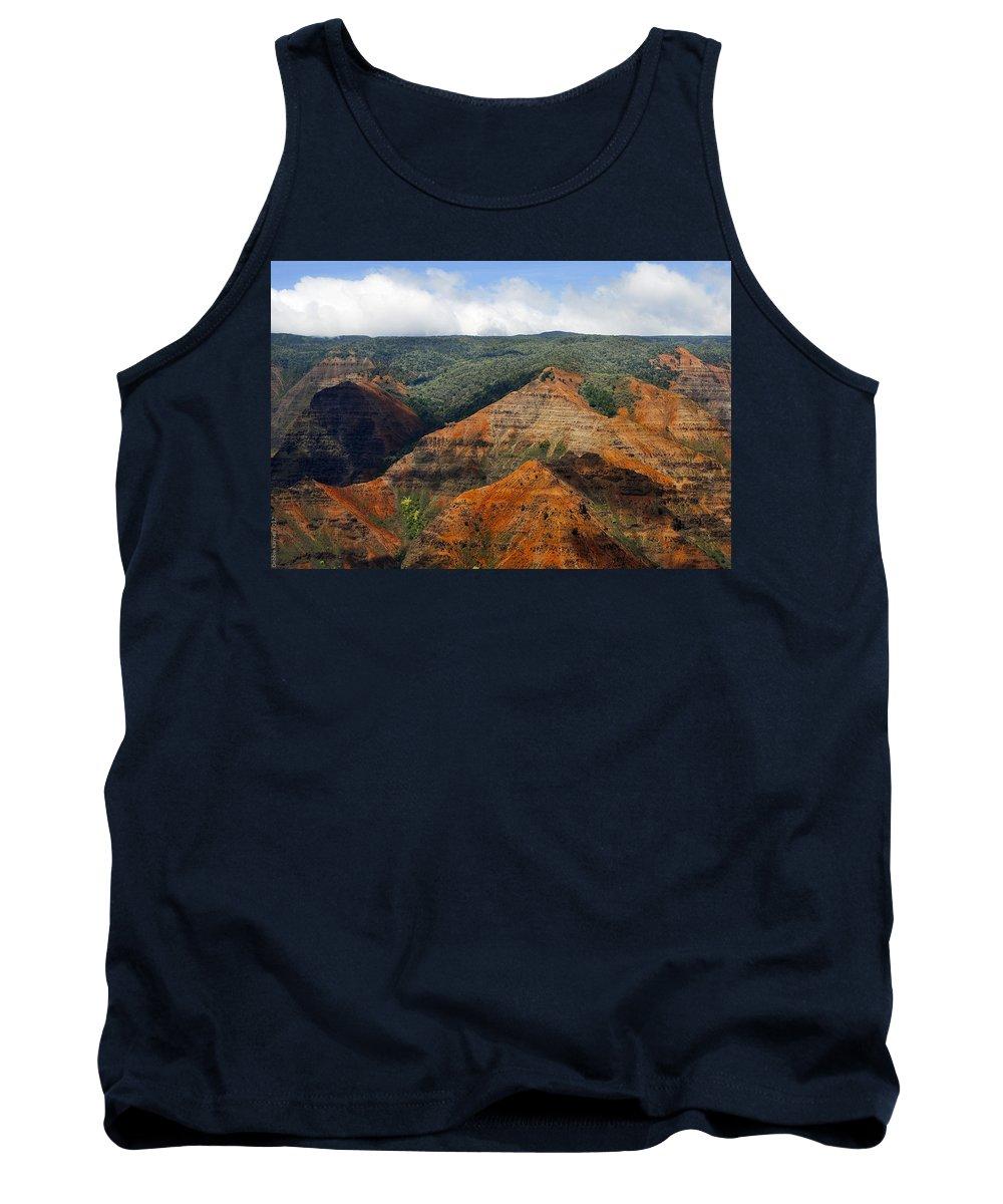 Waimea Canyons Tank Top featuring the photograph Waimea Canyons by Debbie Karnes