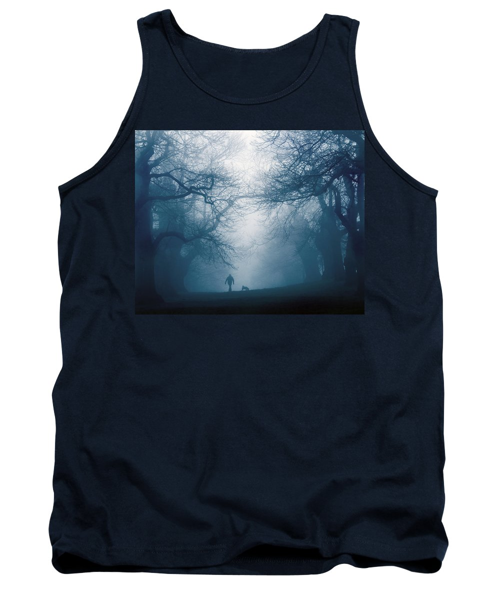 Dog Tank Top featuring the photograph Walking The Dog by Andy Linden