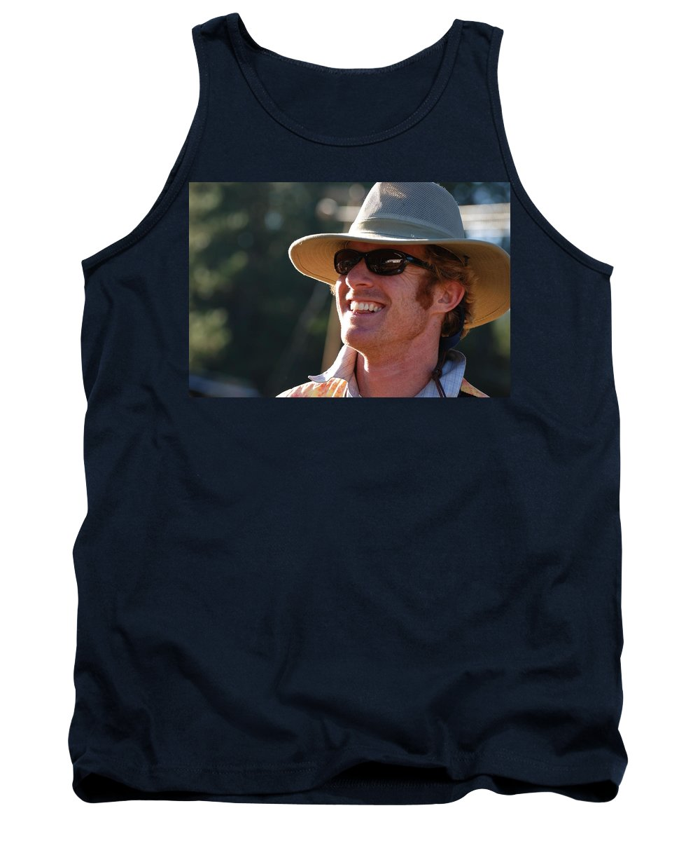 Strawberry Music Festival Tank Top featuring the photograph Whole Lot Of Hilarity by Eric Tressler
