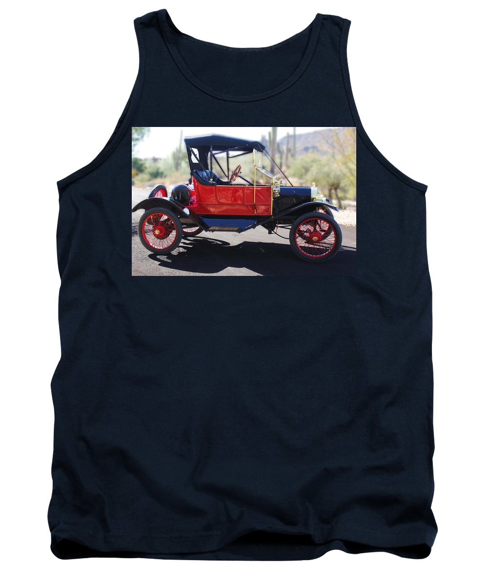 Horseless Carriage Tank Top featuring the photograph 1911 Ford Model T Torpedo by Jill Reger