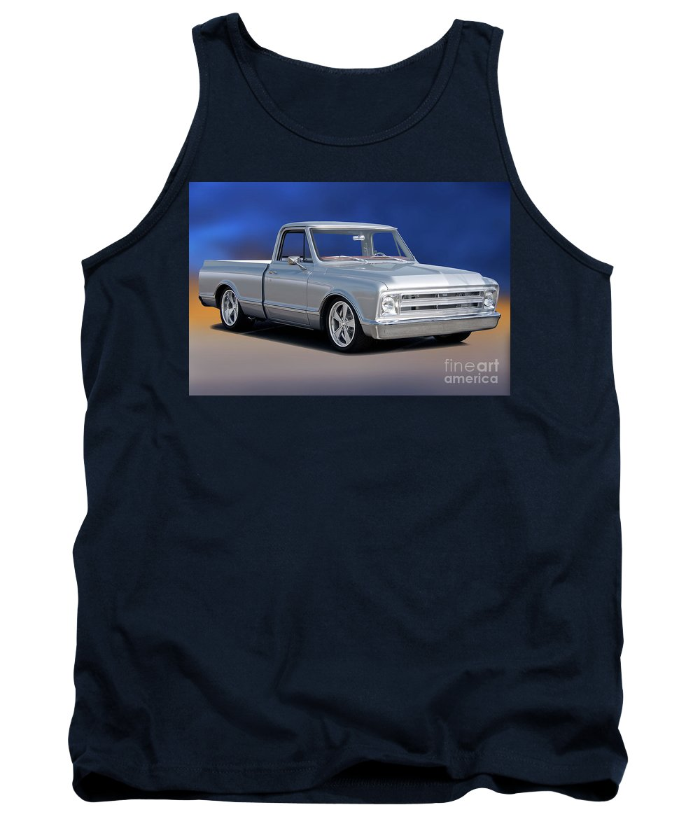 Automobile Tank Top featuring the photograph 1969 Chevrolet C10 Pickup 'studio' 1 by Dave Koontz