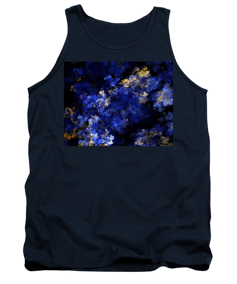 Abstract Digital Painting Tank Top featuring the digital art Abstract 11-18-09 by David Lane