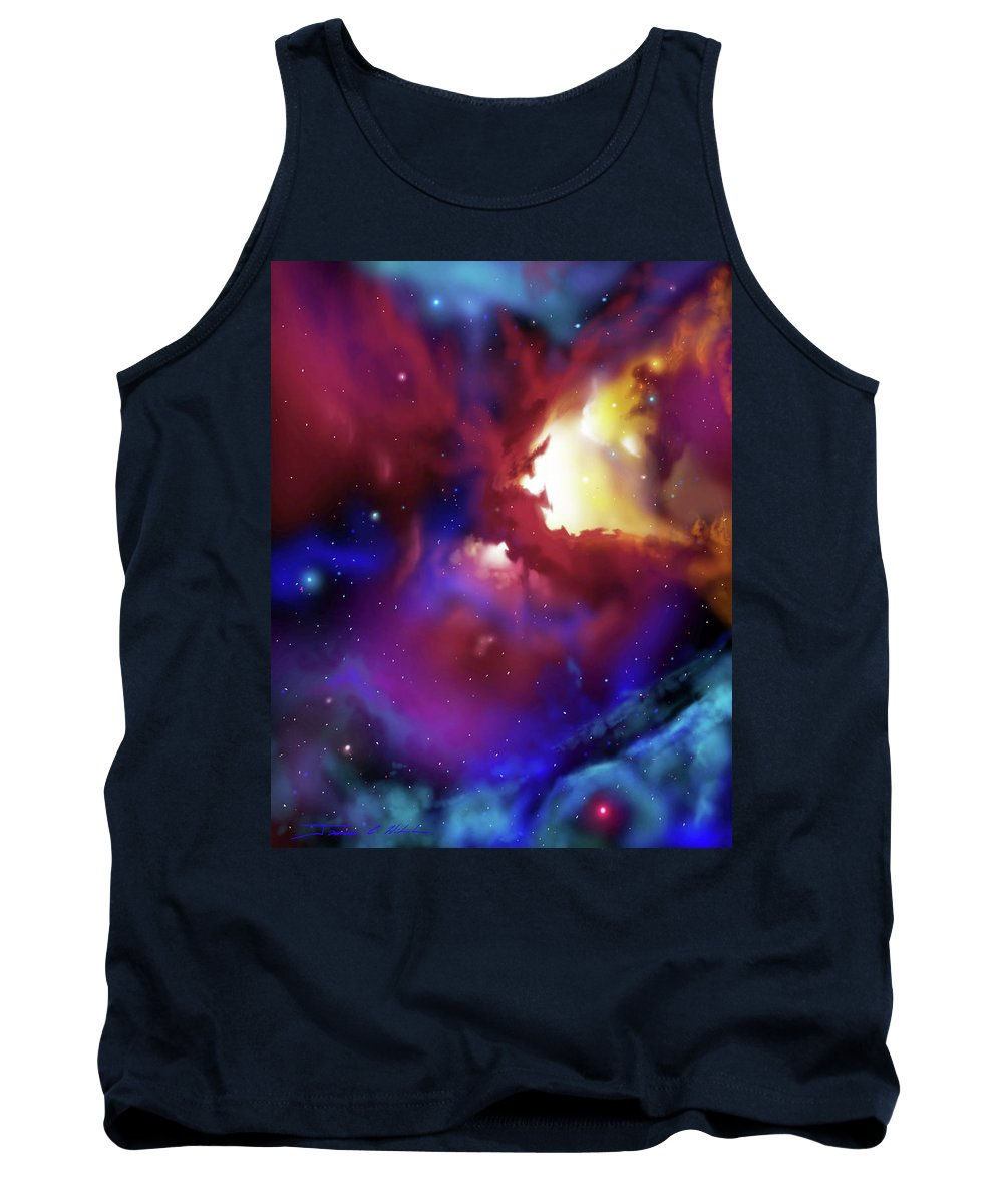 James Christopher Hill Tank Top featuring the painting Bat Nebula by James Christopher Hill