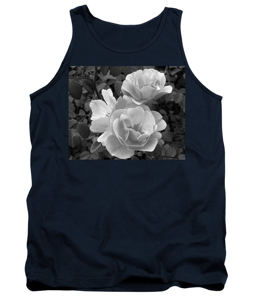 Rose Tank Top featuring the photograph Black And White Roses 2 by Amy Fose