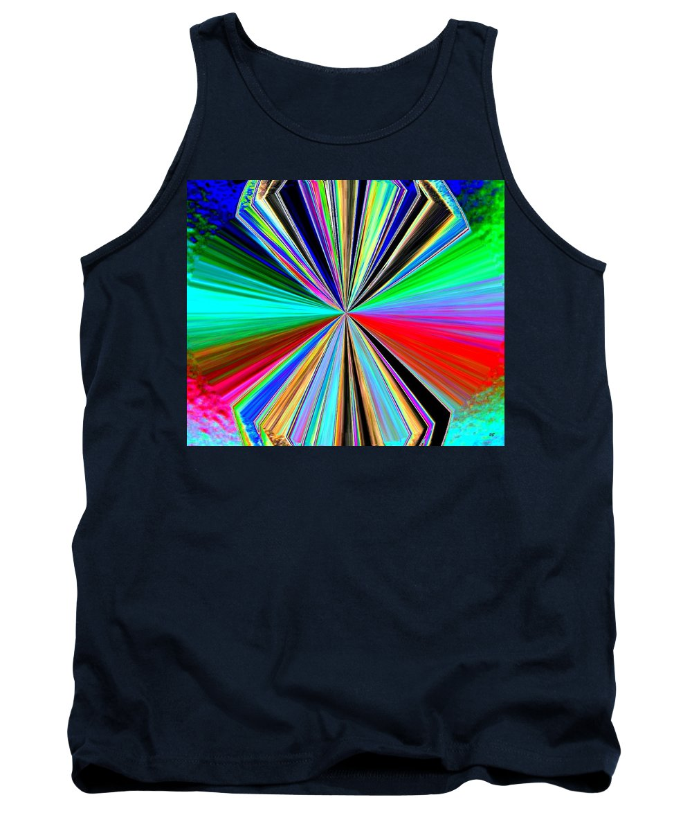 Abstract Tank Top featuring the digital art Candid Color 8 by Will Borden