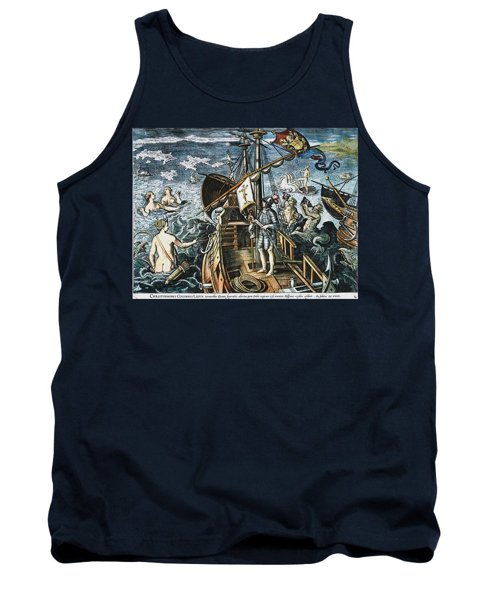 15th Century Tank Top featuring the photograph Christopher Columbus by Granger