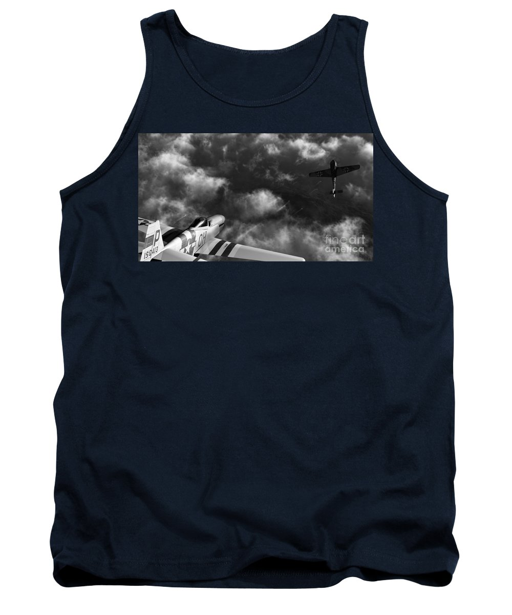 Warbirds Tank Top featuring the digital art Evade by Richard Rizzo