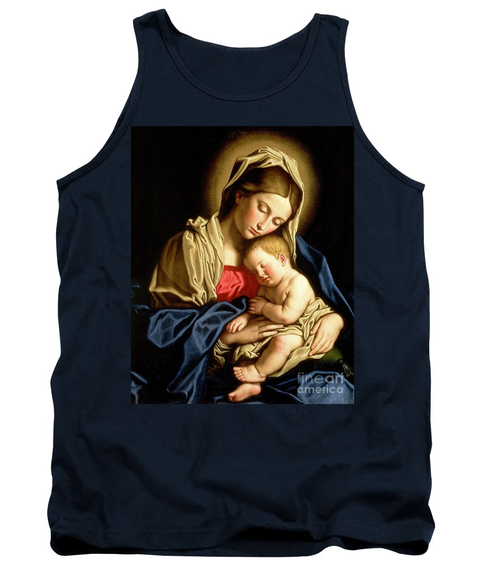 Mary Tank Top featuring the painting Madonna And Child by Il Sassoferrato