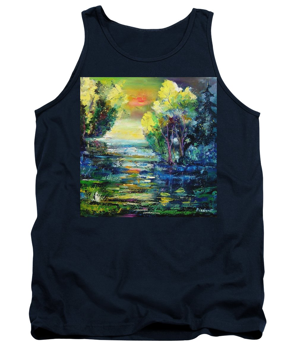 Pond Tank Top featuring the painting Magic Pond by Pol Ledent