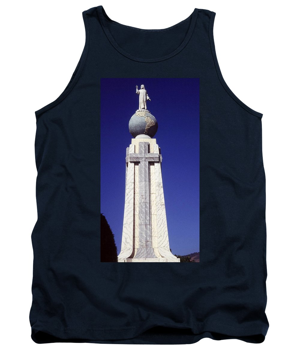 Central America Tank Top featuring the photograph Monumento Al Divino Salvador Del Mundo by Juergen Weiss
