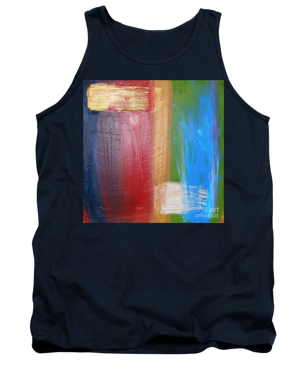 Rainbow Tank Top featuring the painting Radiance by Maria Bonnier-Perez