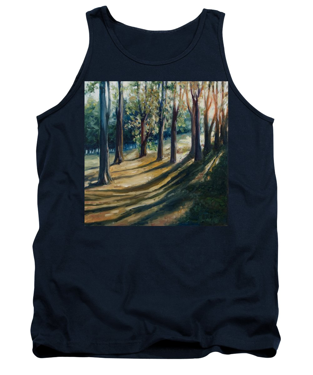 Trees Tank Top featuring the painting Shadows by Rick Nederlof