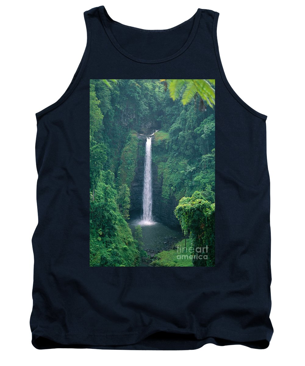 C1767 Tank Top featuring the photograph Sopoaga Falls by Kyle Rothenborg - Printscapes
