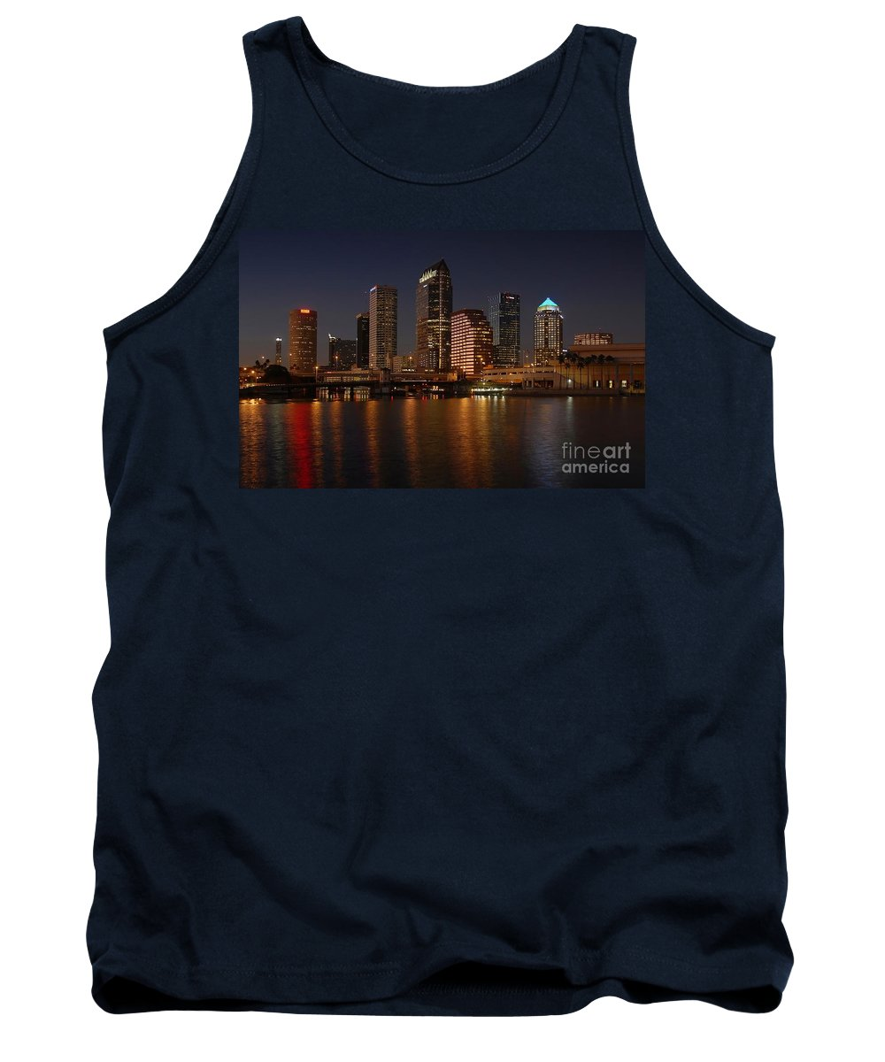 Tampa Tank Top featuring the photograph Tampa Florida by David Lee Thompson