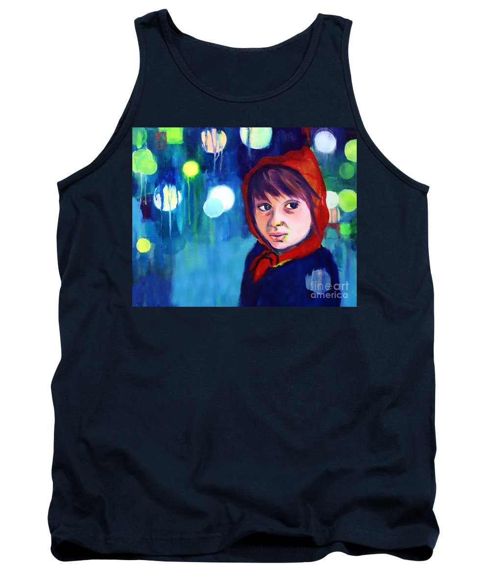 Mysterious Tank Top featuring the painting The Miracle by Angelique Bowman
