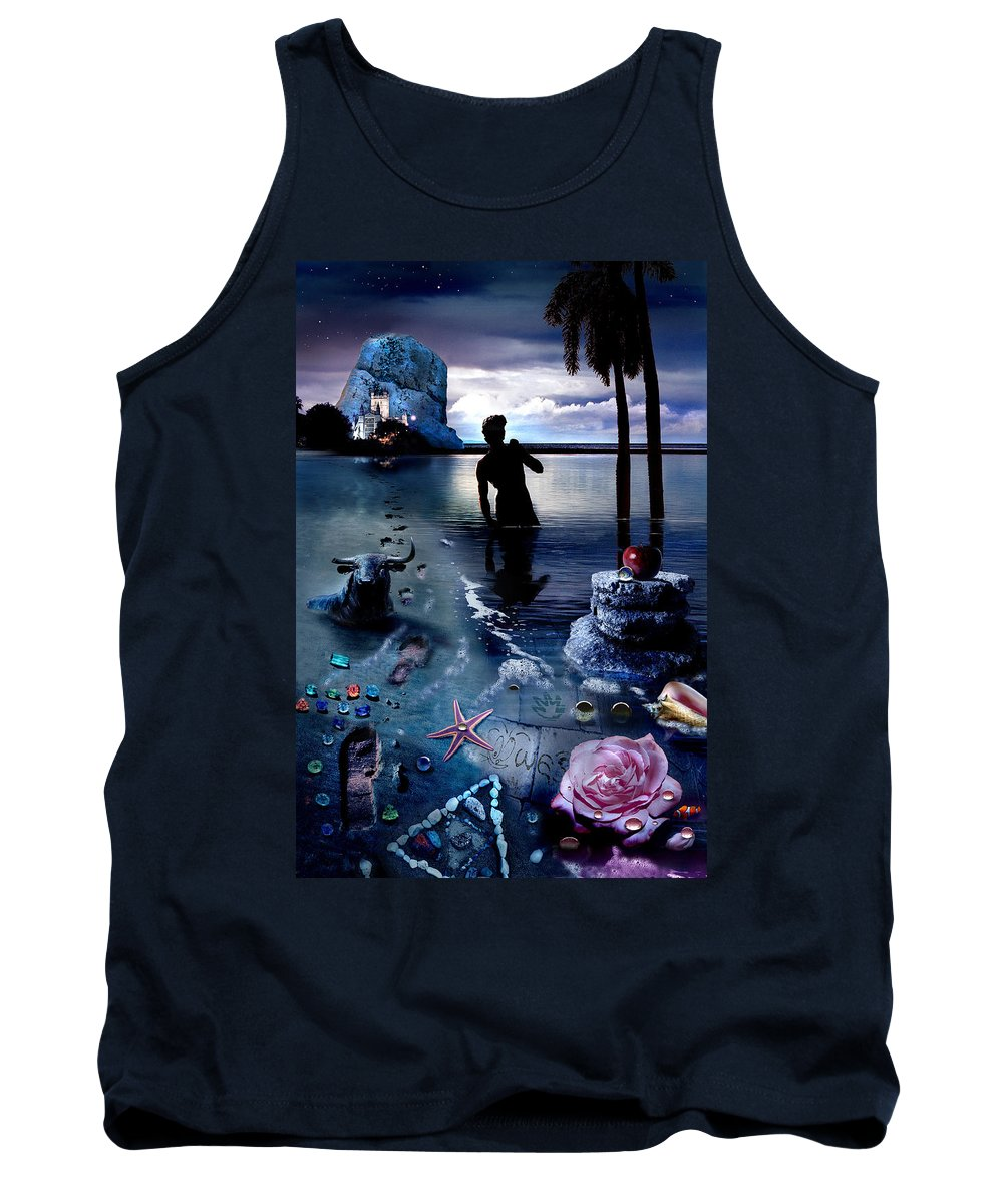 Treasure Tank Top featuring the photograph Treasure Island by Mal Bray