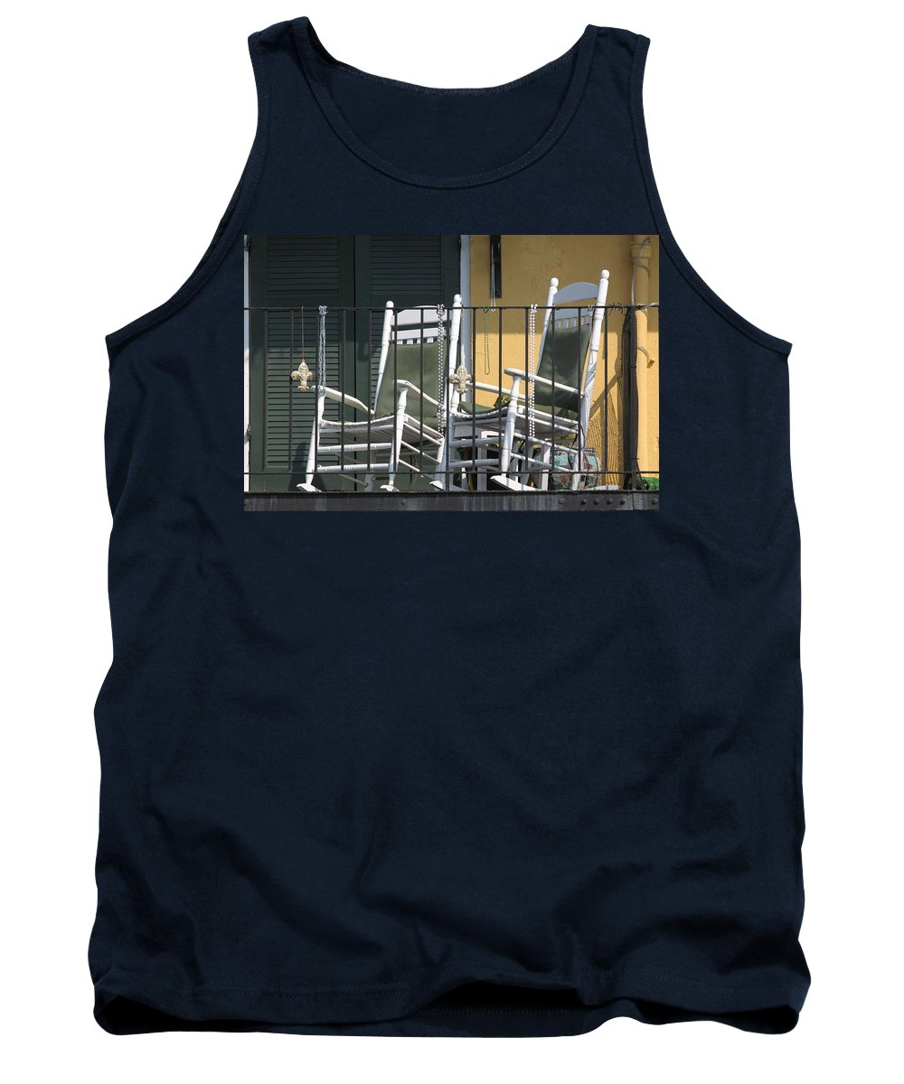 New Orleans Tank Top featuring the photograph Waiting For Mardi Gras by Lauri Novak