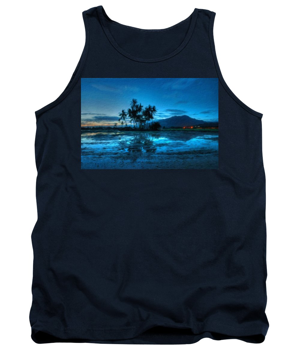 Images Tank Top featuring the digital art R G Landscape by Usa Map