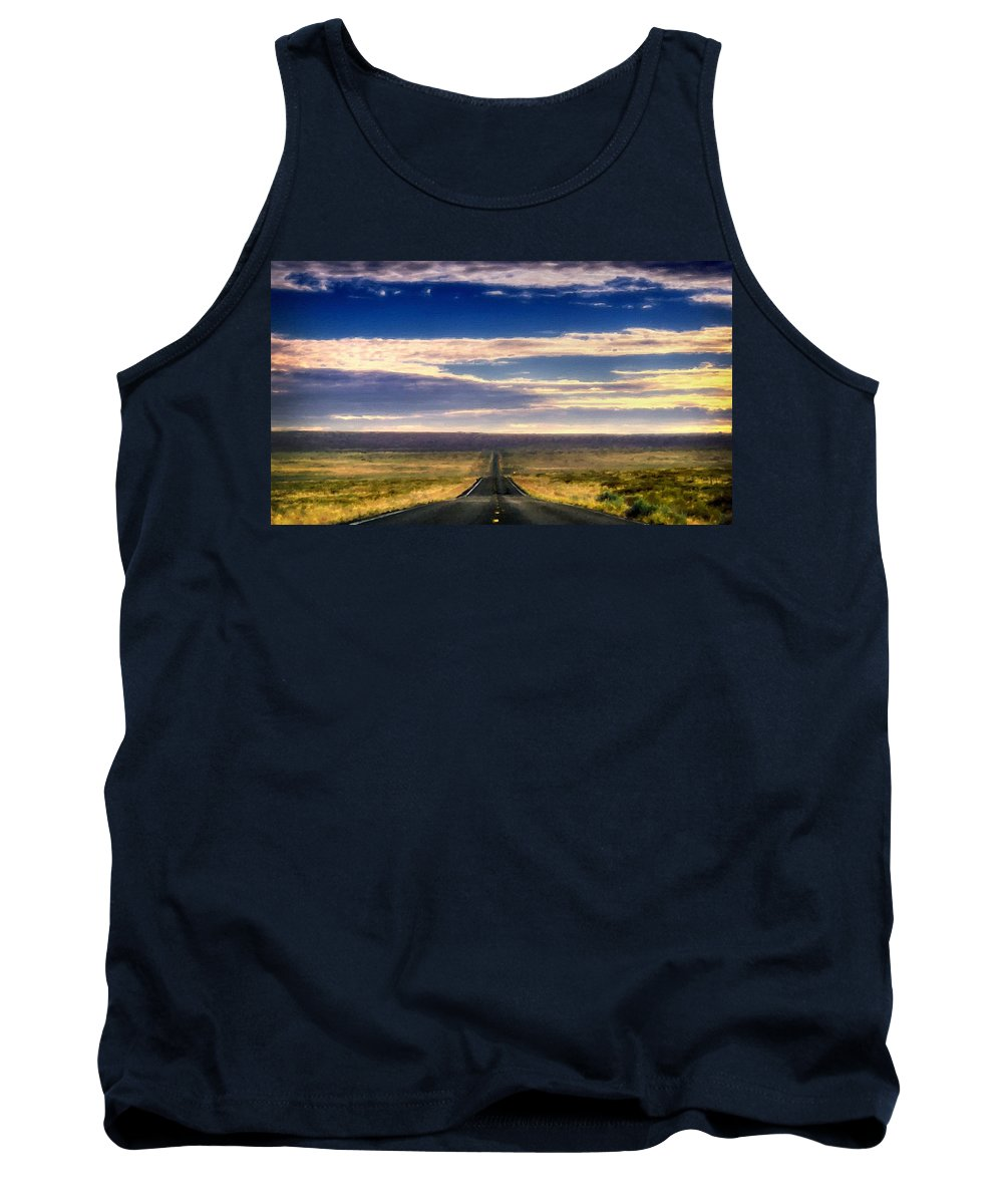 Landscape Tank Top featuring the digital art Landscapes To Paint by Usa Map