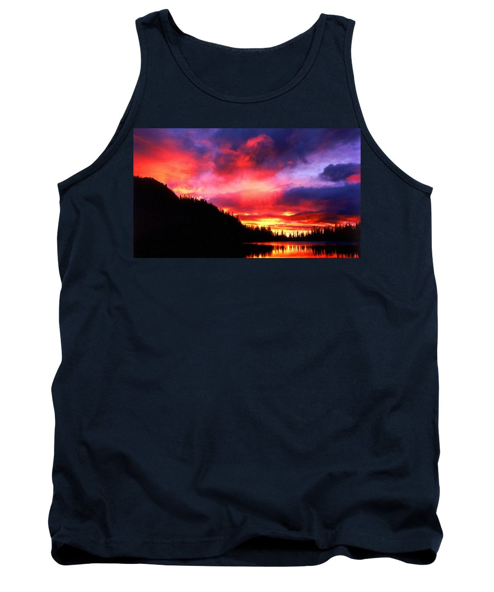 D Tank Top featuring the digital art Pictures Nature by Usa Map