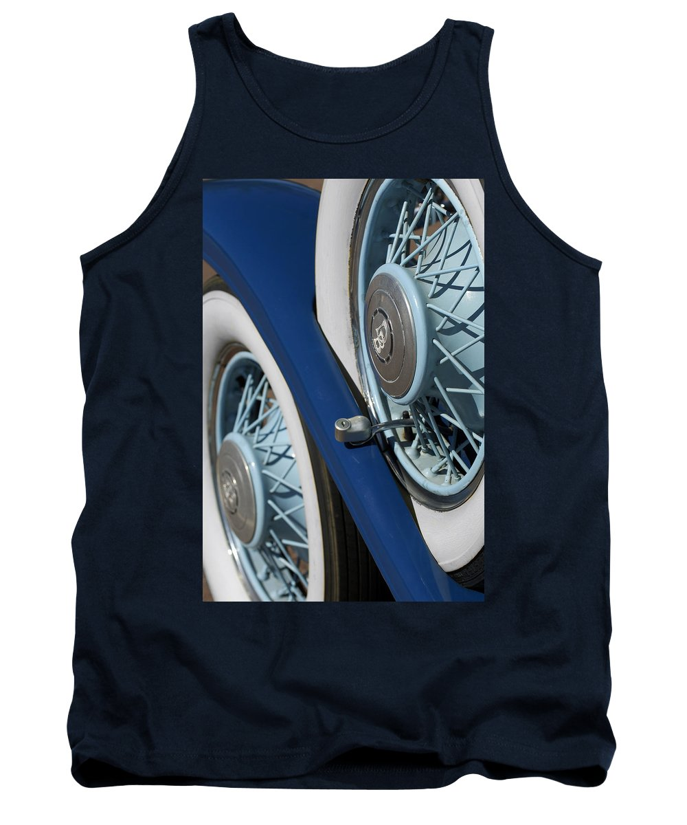Car Tank Top featuring the photograph 1930 Db Dodge Spare Tire by Jill Reger