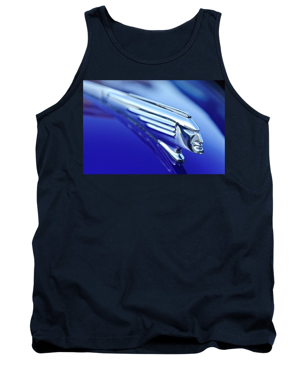 1939 Pontiac Coupe Tank Top featuring the photograph 1939 Pontiac Coupe Hood Ornament 4 by Jill Reger