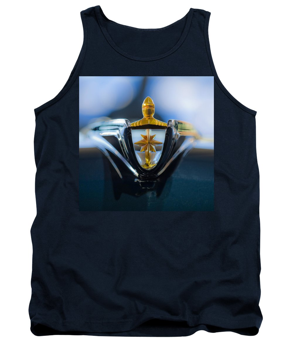 1956 Lincoln Premiere Convertible Tank Top featuring the photograph 1956 Lincoln Hood Ornament by Jill Reger