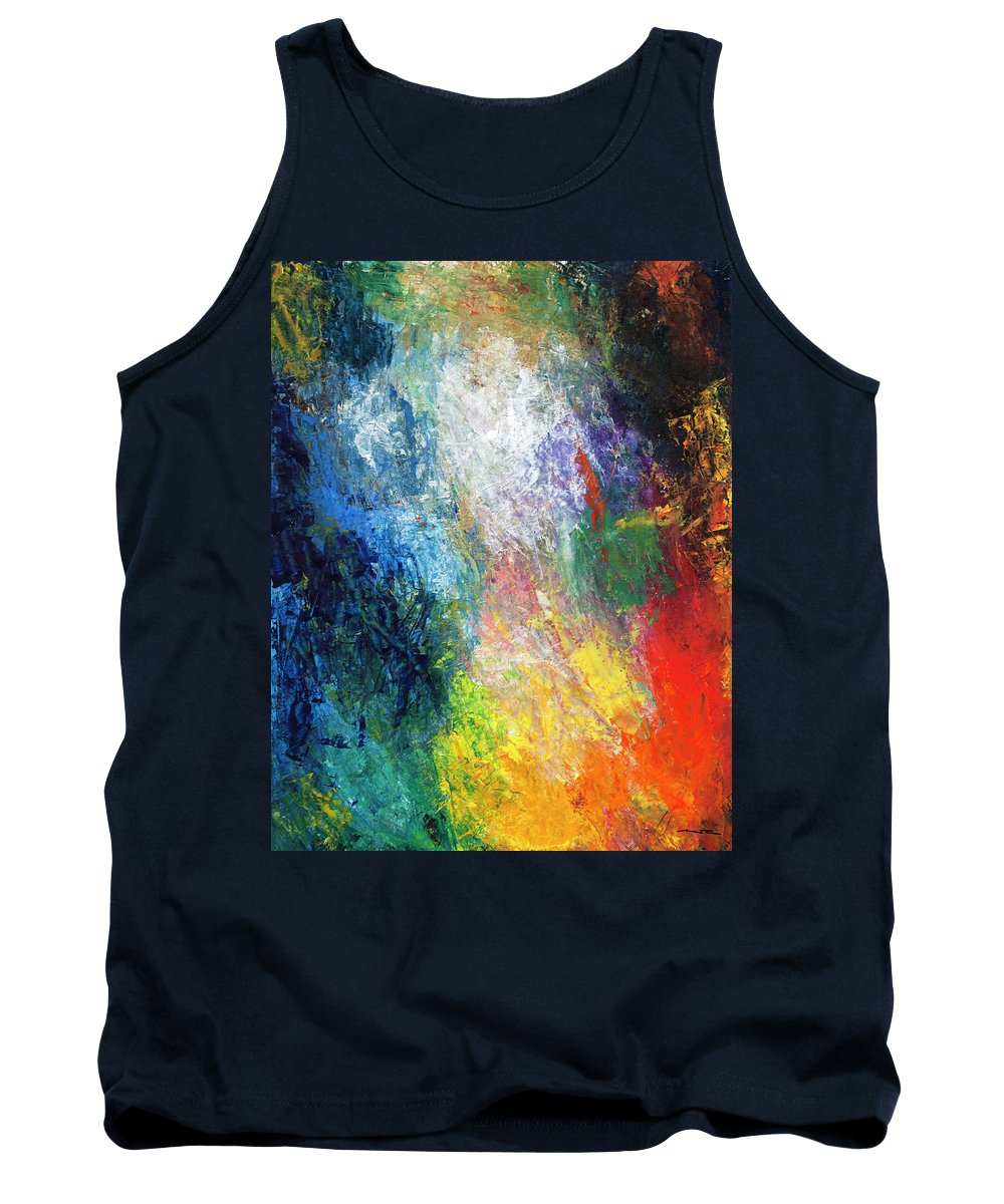 Abstract Tank Top featuring the painting 1968 Typhoon Season, Vol. 1 by Nelson Ruger