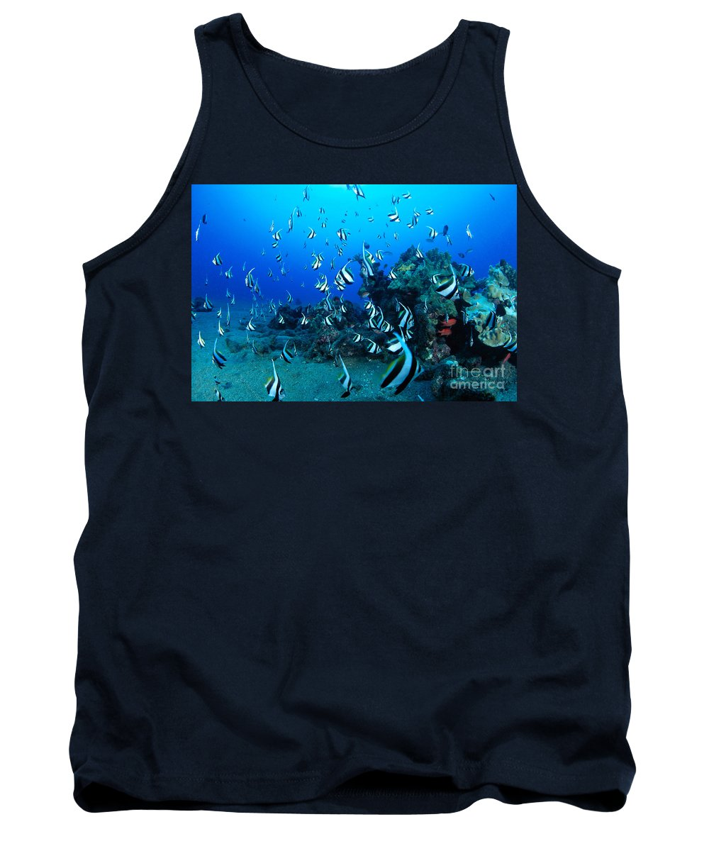 Animal Art Tank Top featuring the photograph Hawaiian Reef Scene by Dave Fleetham - Printscapes