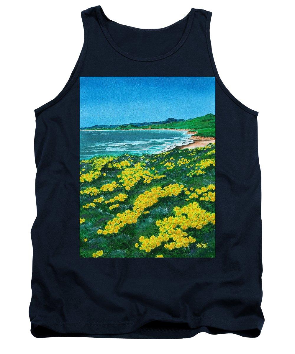 Jalama Tank Top featuring the painting Jalama Beach by Angie Hamlin